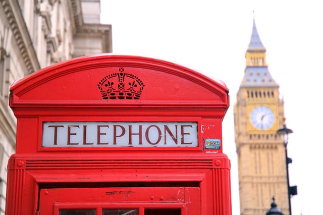 telephone booth and big ben in london england